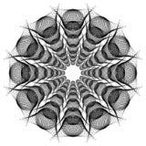 Czarny i biały round giloszuje elenent Raster klamerki sztuka Zdjęcie Royalty Free