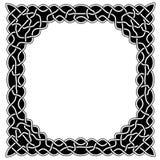 Czarny i biały round w centrum rama z wzorami ja Fotografia Stock
