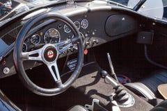 Czarny i biały 1965 Shelby kobra Zdjęcie Stock