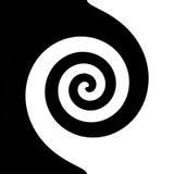 Czarny i biały spirala Zdjęcia Stock