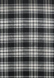Czarny i biały sukienna tekstura Zdjęcia Royalty Free