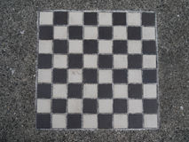 Czarny I Biały szachownica Zdjęcie Royalty Free