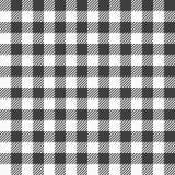 Czarny i biały szkockiej kraty tablecloth Zdjęcie Stock