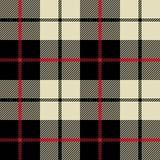Czarny i biały tkaniny tekstura w kwadratowym wzorze Obraz Royalty Free