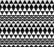Czarny i biały trójboka wzór Fotografia Stock