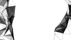 Czarny i biały trójboki Obrazy Royalty Free