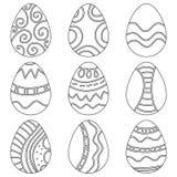 Czarny i biały Wielkanocni Jajka Obrazy Royalty Free