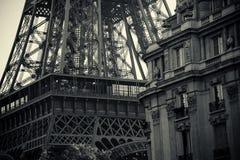 Czarny i biały Wycieczka turysyczna Eiffel Zdjęcie Stock