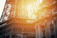 Czarny i biały wycieczka turysyczna Eiffel z zmierzchem Obraz Royalty Free