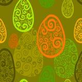 Czarny i biały wzór z jajko elipsy wzorem Obrazy Stock