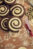 Zawijasów ciastka Zdjęcia Stock
