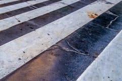 Czarny i biały zebra wzoru kamienia marmuru kroki Obraz Royalty Free