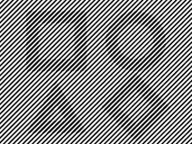 Czarny i biały linii złudzenia kwadrata okręgu trójbok Obraz Royalty Free