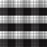 Czarny I Biały tartan szkockiej kraty tło Zdjęcie Royalty Free