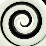 Czarny i biały twirl jako abstrakcjonistyczny tło Zdjęcie Royalty Free