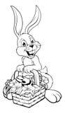 Czarny I Biały Wielkanocny królik Obrazy Stock