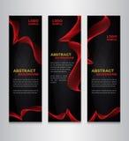 Czarny i czerwony abstrakcjonistyczny sztandaru projekt Fotografia Stock