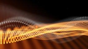 Czarny i pomarańczowy abstrakcjonistyczny fantazi technologii tło ilustracja wektor