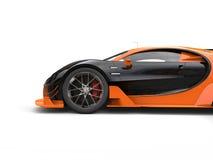 Czarny i pomarańczowy supercar - boczny widok ciie strzał Obraz Stock