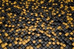 Czarny i pomarańczowy sześcianu tło Zdjęcie Stock
