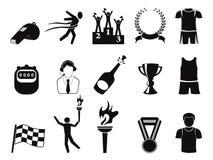czarny ikony ustawiający sporty ilustracji