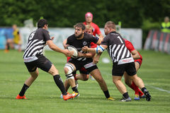 czarny ilustracj graczów rugby setu wektoru biel Zdjęcie Royalty Free