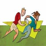 czarny ilustracj graczów rugby setu wektoru biel Obraz Royalty Free