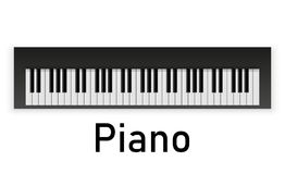 czarny ilustracja wpisuje fortepianowego ustalonego biel royalty ilustracja