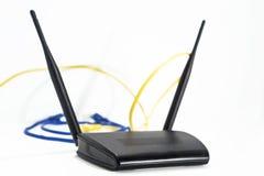 Czarny interneta router zdjęcie stock