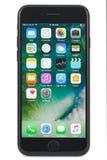 Czarny iPhone 7 na białym tle Obraz Stock