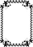 czarny ivy graniczny Zdjęcia Royalty Free