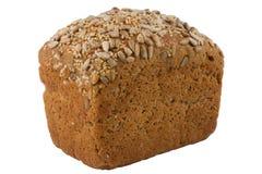 Czarny jęczmienny chleb z słonecznikowymi i sezamowymi ziarnami Fotografia Stock