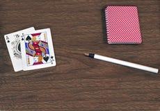 Czarny Jack ręka karty Obrazy Royalty Free
