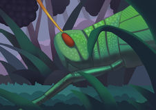 Czarny jagoda ogród ilustracji