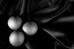 czarny jajka Zdjęcie Royalty Free
