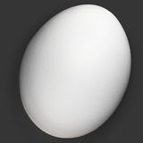 czarny jajko odizolowywał jeden organicznie biel Obrazy Stock