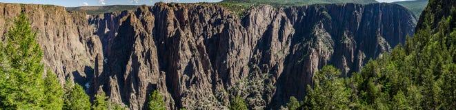Czarny jar Gunnison panorama Obrazy Royalty Free