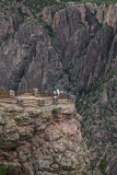 Czarny jar Gunnison park narodowy blisko Montrose, Kolorado, usa Obrazy Stock