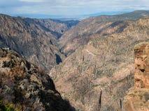 Czarny jar Gunnison, zachodni Kolorado obraz stock