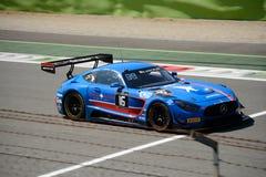 Czarny jastrząbek Mercedez GT3 przy Monza Zdjęcia Stock
