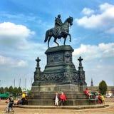 Czarny jeździec w przodzie Semper opera Fotografia Royalty Free