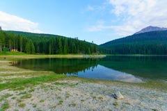 Czarny jezioro, Durmitor Fotografia Stock