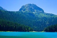 Czarny jezioro w Durmitor parku narodowym obrazy stock