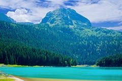Czarny jezioro w Durmitor parku narodowym, Montenegro fotografia stock
