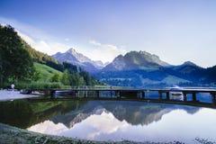 Czarny jezioro w Szwajcaria Obrazy Royalty Free