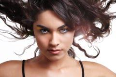 czarny kędzierzawego włosy wiatr Zdjęcie Royalty Free
