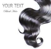 czarny kędzierzawy włosy Fotografia Stock