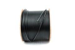 czarny kablowy współosiowy fotografia stock