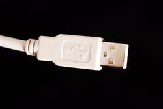 czarny kablowych dane odosobniony biel Fotografia Royalty Free