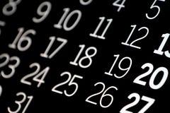 czarny kalendarz Obrazy Royalty Free